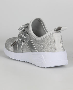 Girls Casual Sneakers - Silver