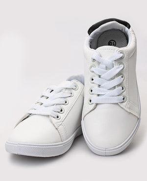 Girls Sneakers - White-Black
