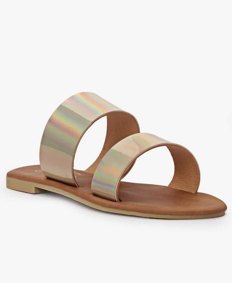 Girls Strappy Sandals - Pewter