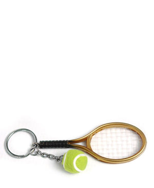 Tennis Key Ring - Gold