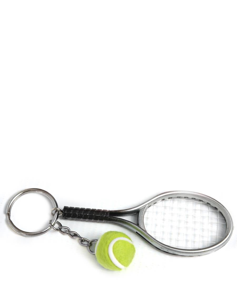 Tennis Key Ring - Silver