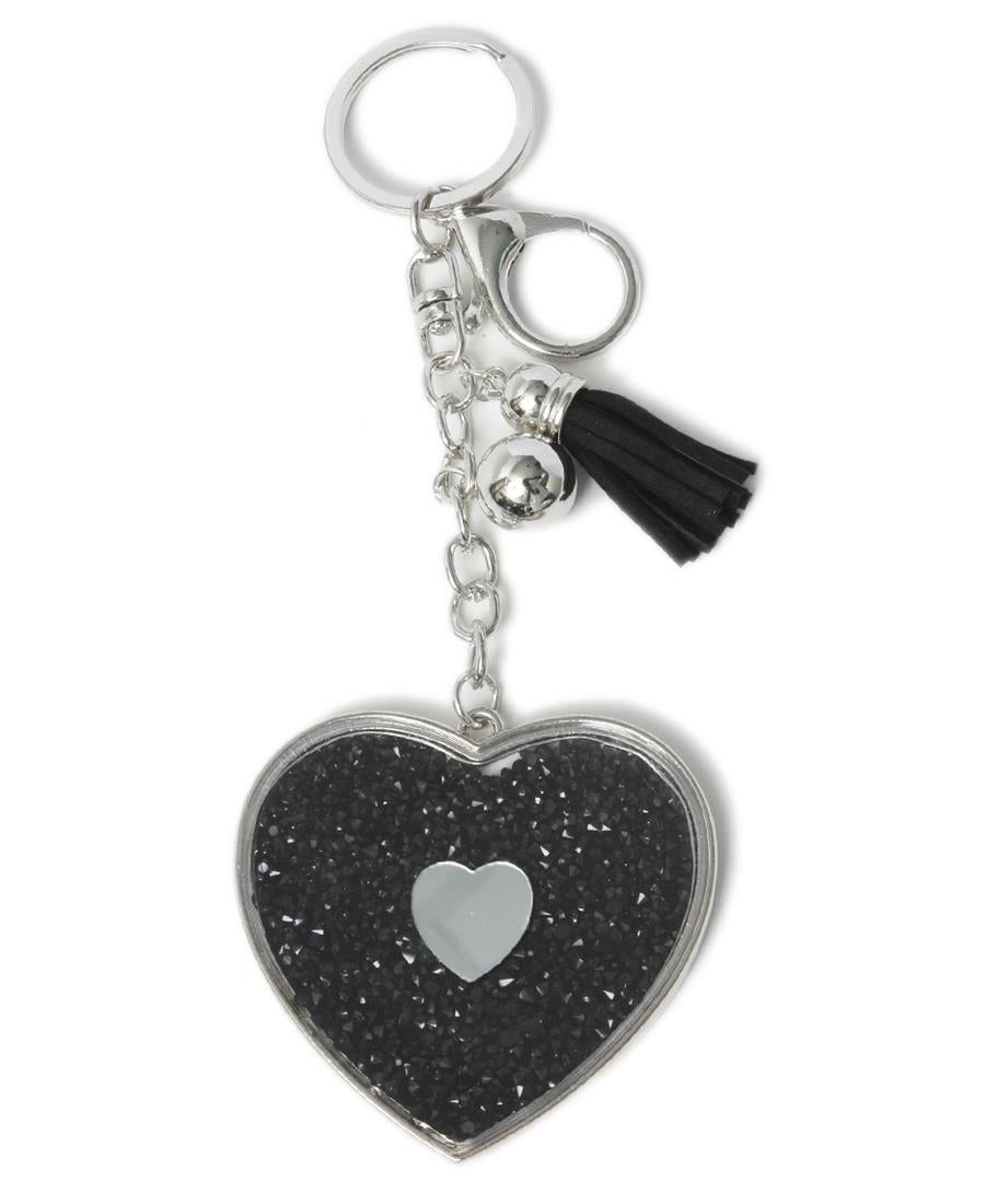 Key Ring - Black-Silver