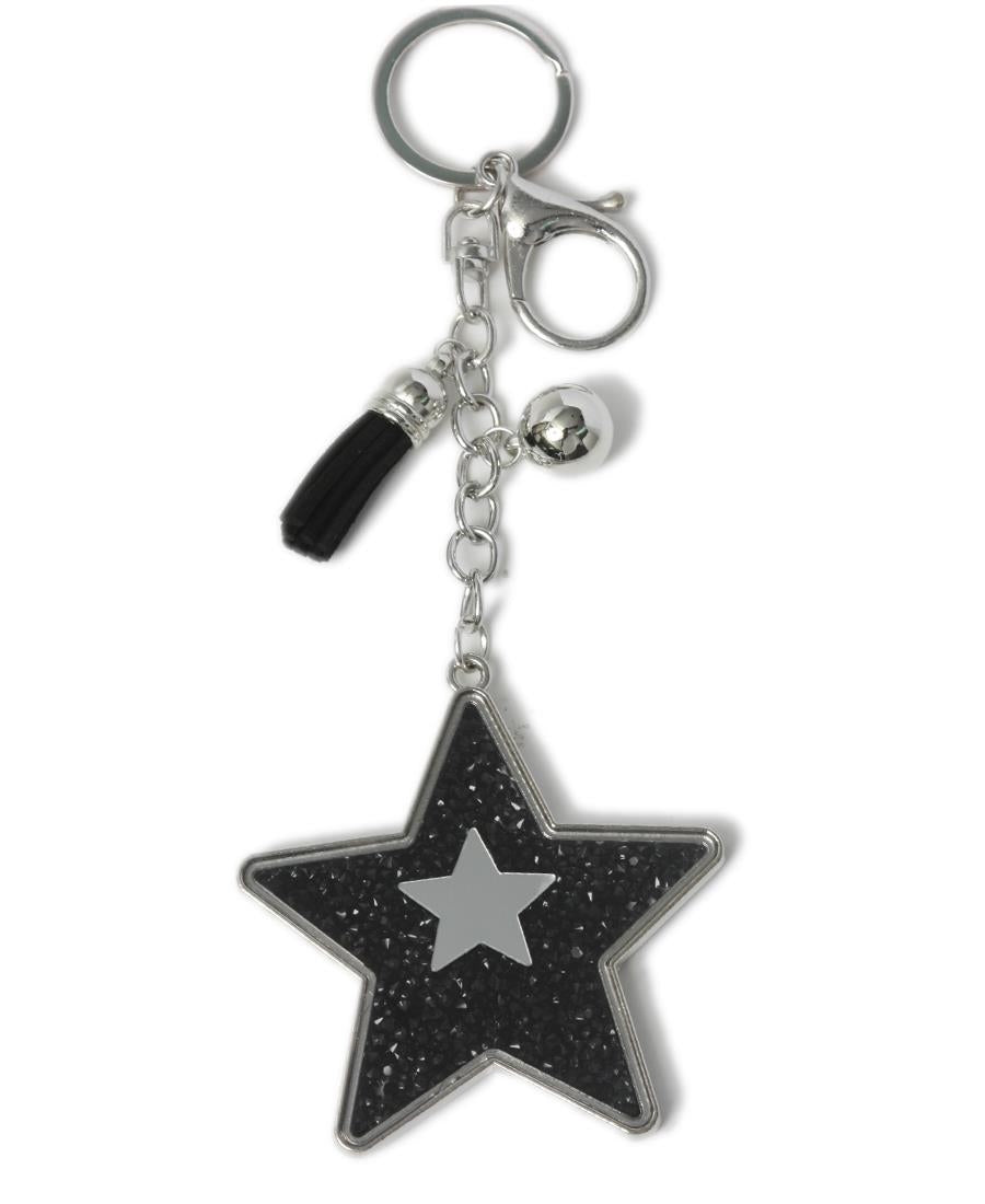Key Ring - Black- Silver