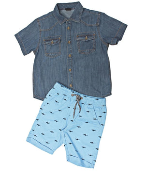 Boys Beach Shorts - Blue