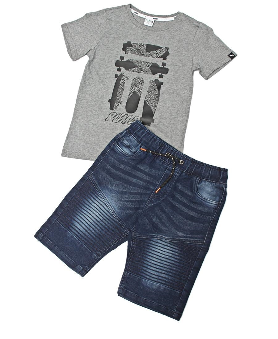 Boys Denim Shorts - Navy