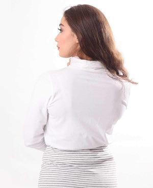 Ladies' Poloneck - White