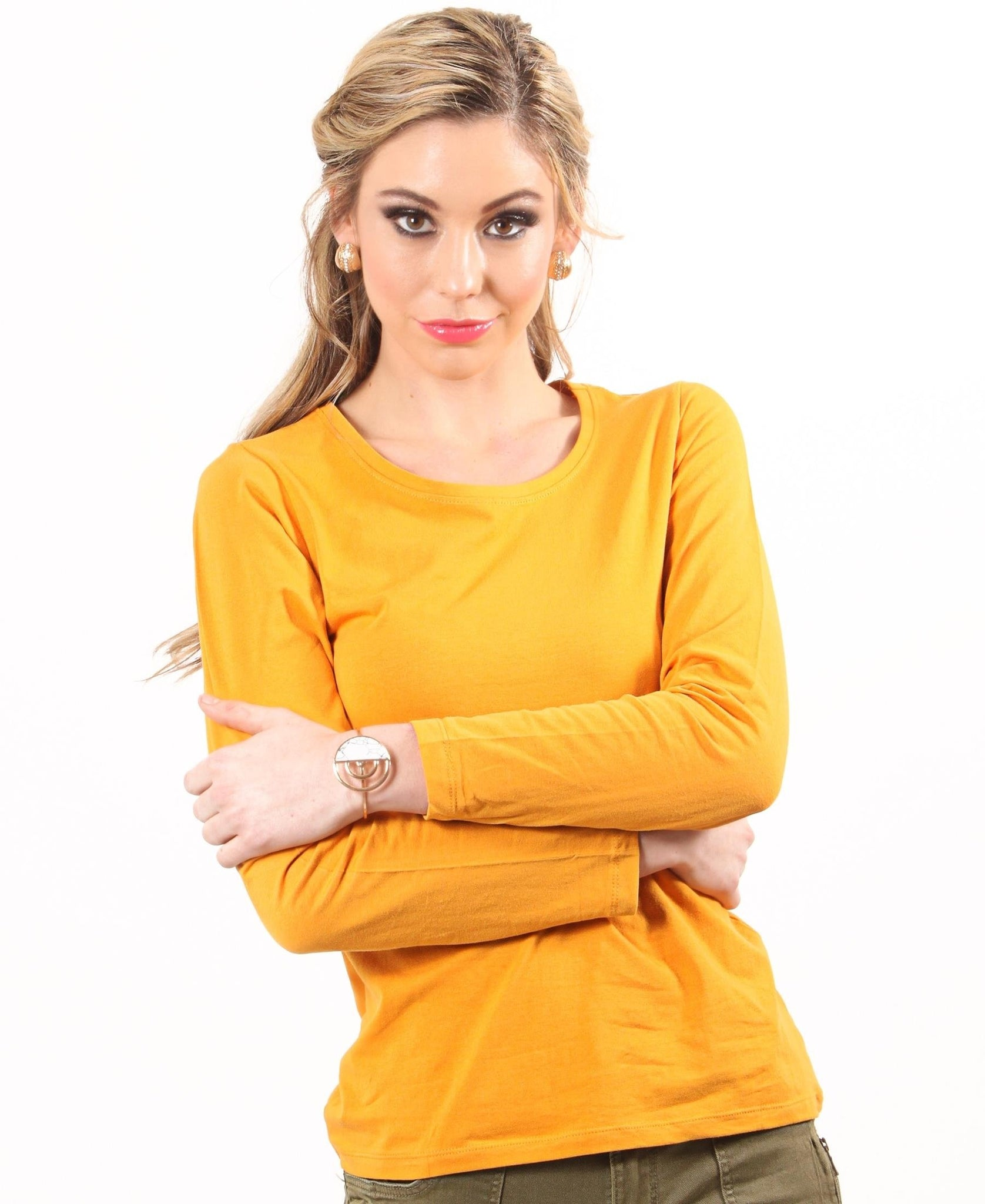 Soft Crew Neck Long Sleeve - Mustard