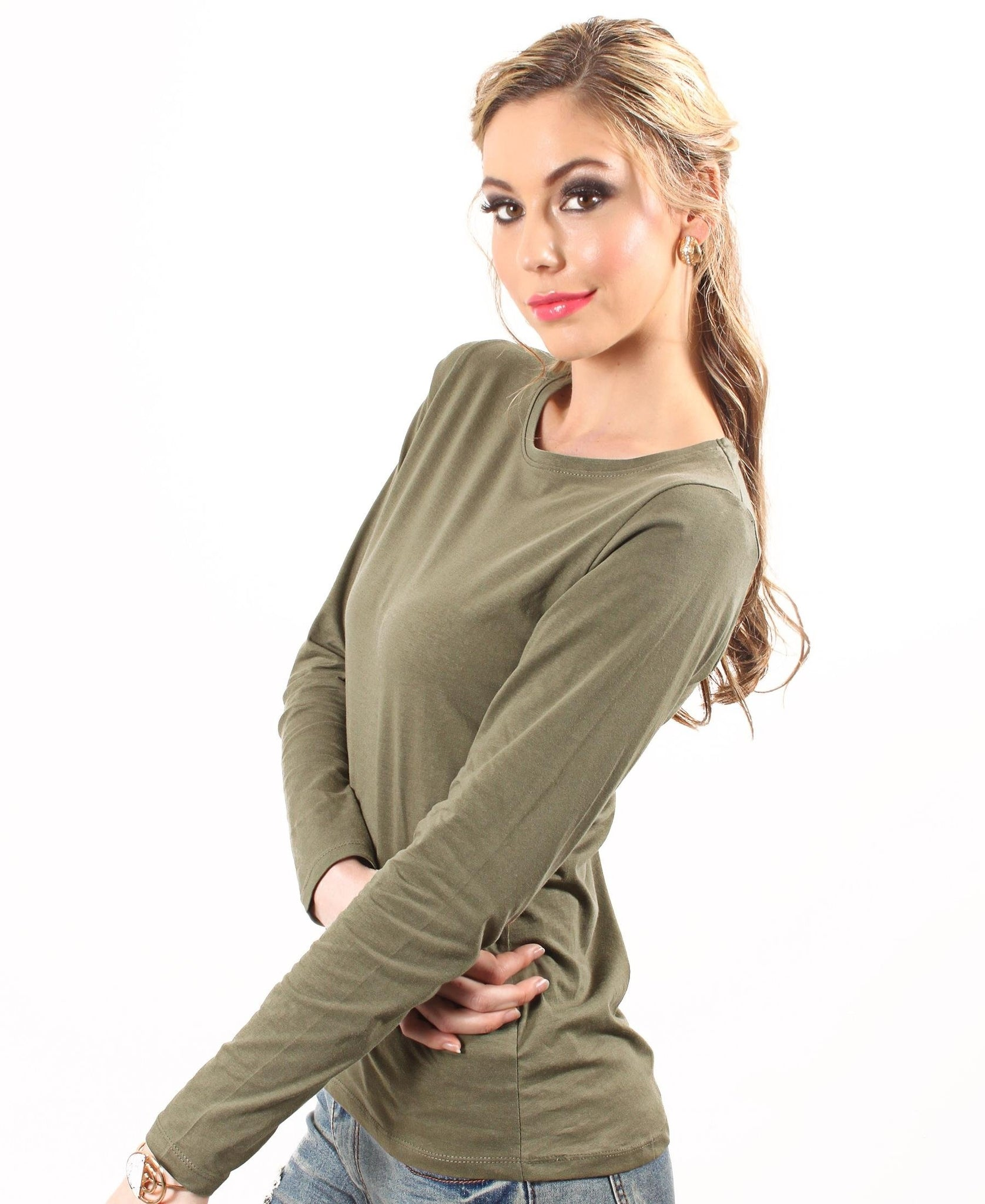 Soft Crew Neck Long Sleeve - Olive