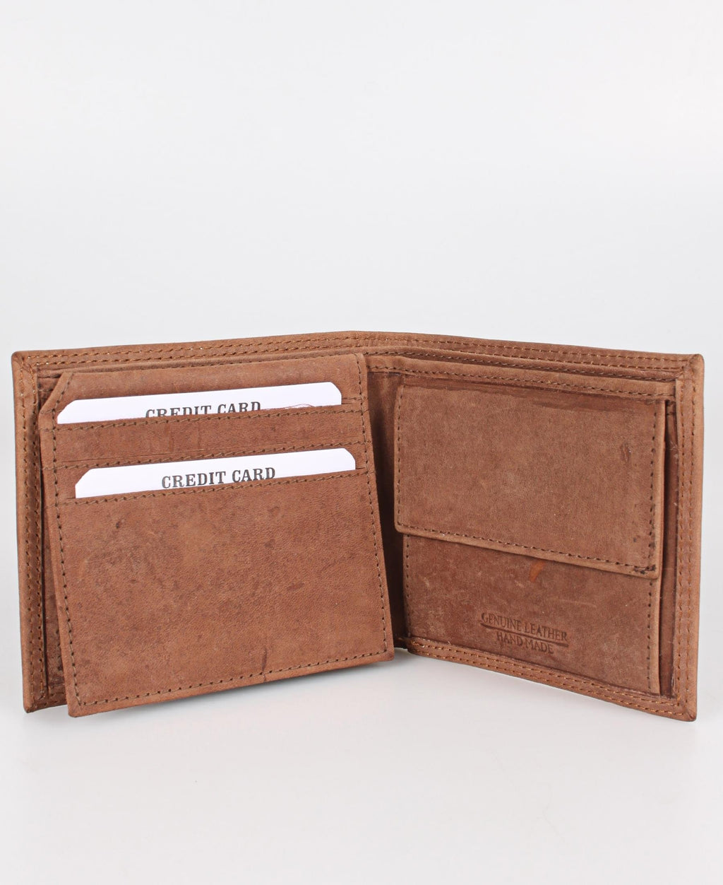 Genuine Leather Wallet - Tan