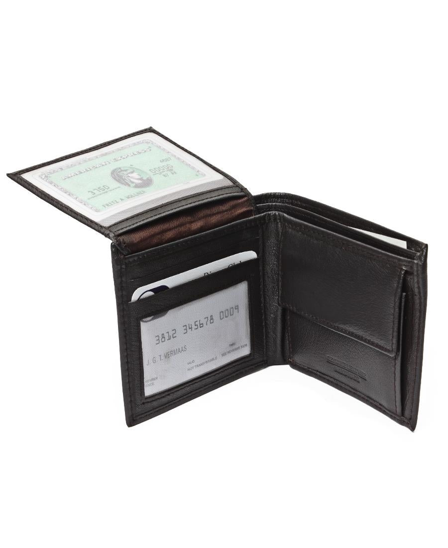 Genuine Leather Wallet - Brown