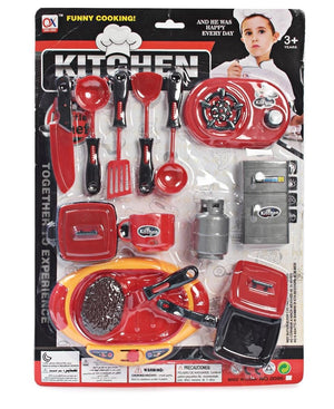 Kitchen Fun Cooking Set - Red