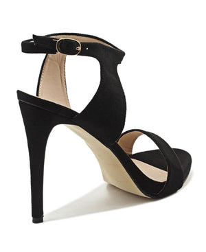 Ankle Strap Heel - Black