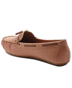 Casual Moccasins - Tan