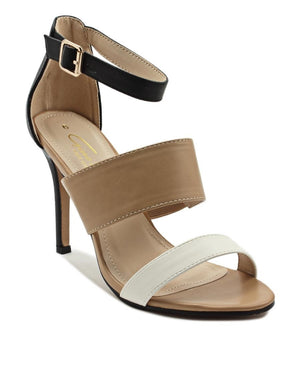 Ankle Strap Heel - Tan