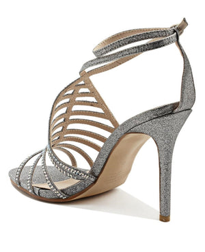 Ankle Strap Heel - Silver