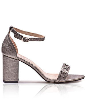 Block Heel  - Pewter