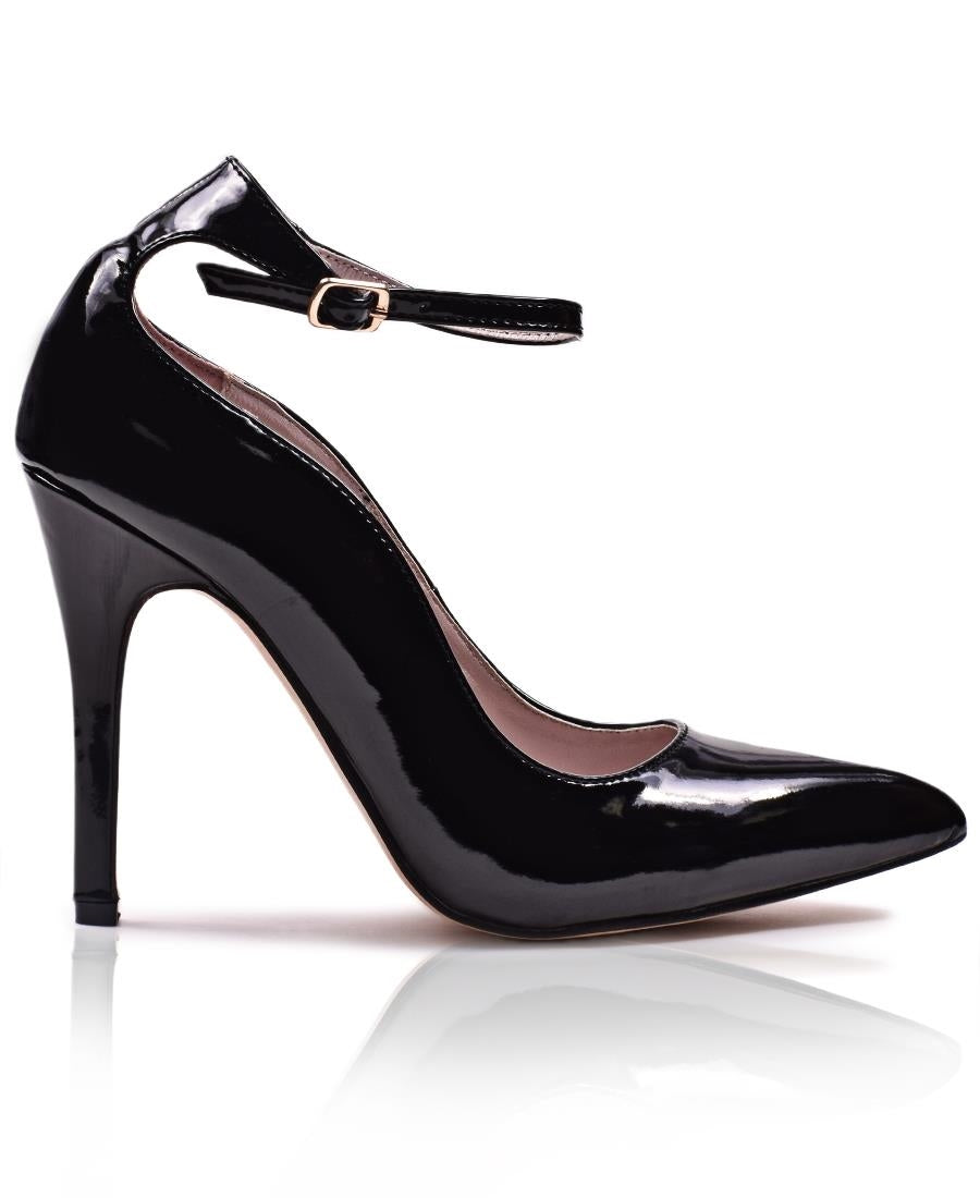 Ankle Court Heel  - Black