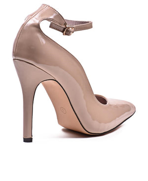 Ankle Court Heel  - Nude