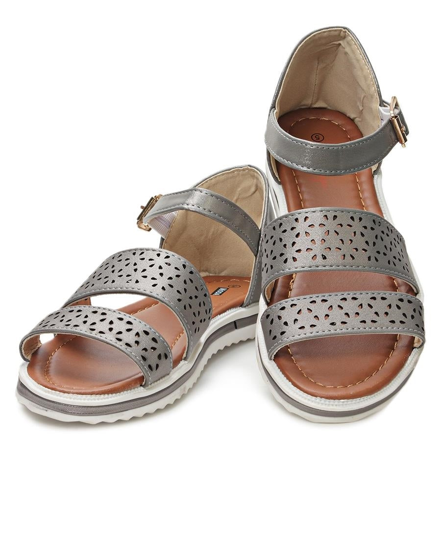 Casual Sandals - Pewter