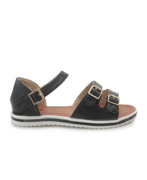 Crossover Sandal - Black