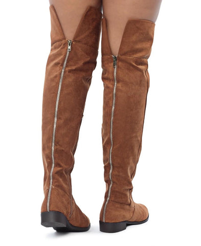 Over The Knee Boot - Tan