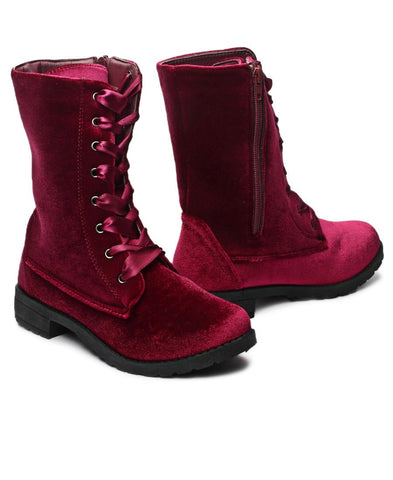Mid Boots  - Burgundy