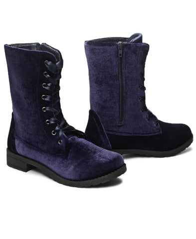 Mid Boots  - Navy