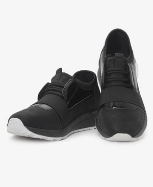 Ladies' Detailed Sneakers - Black