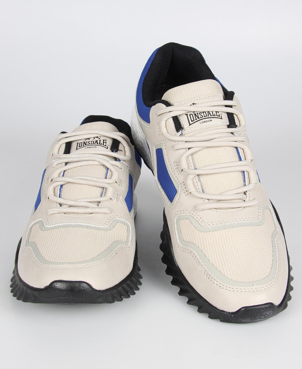 Men's Casual Sneakers - Black-Blue