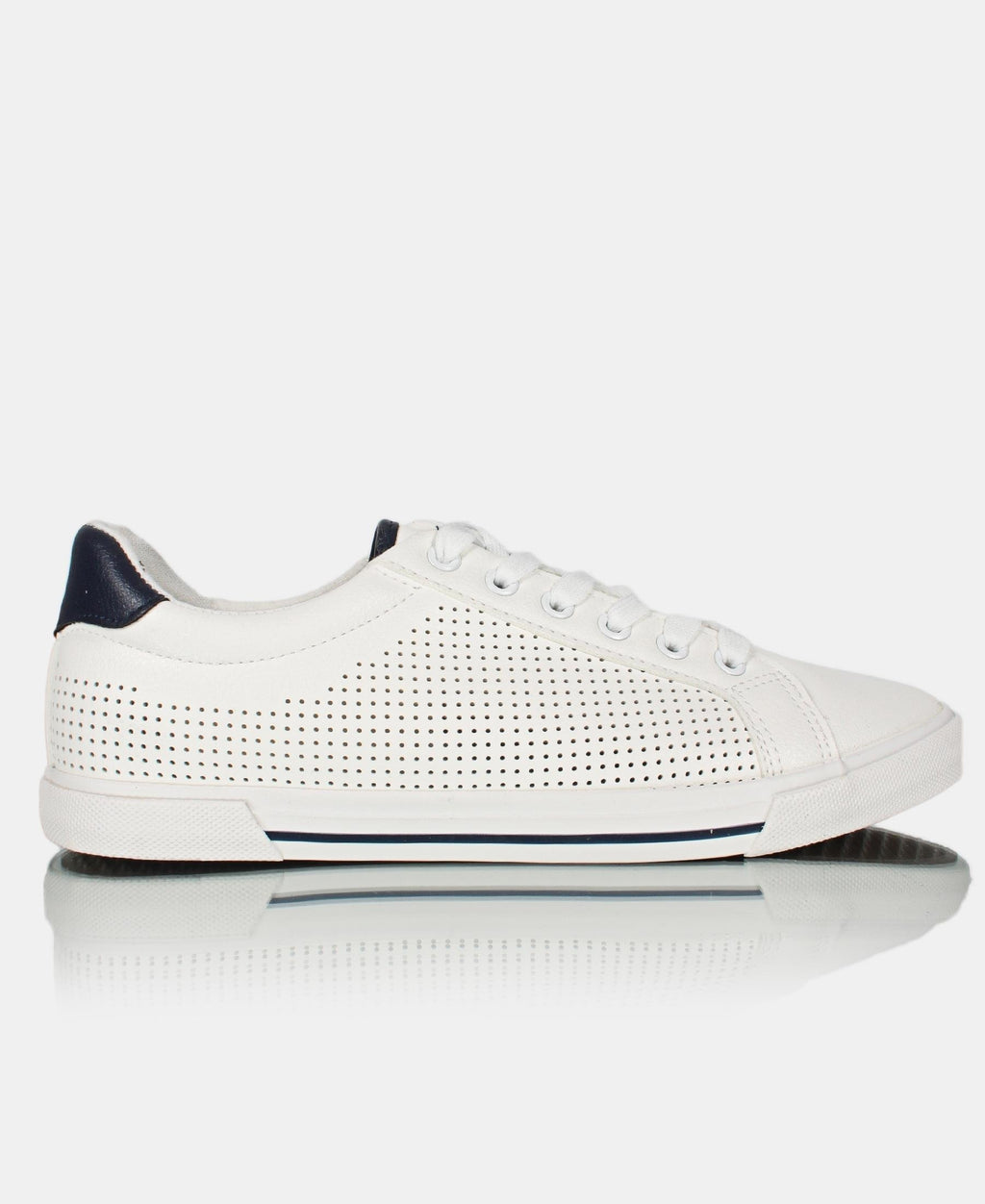 Mens' Core Sneakers - White-Navy