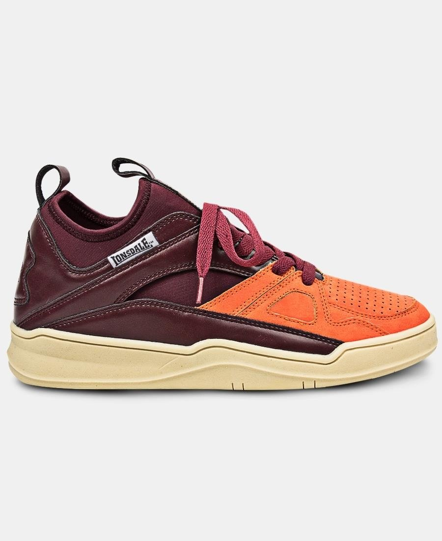 Men's Web Sneakers - Burgundy
