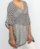 Chiffon Kaftan Top - Black