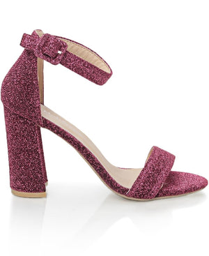 Block Heel - Red
