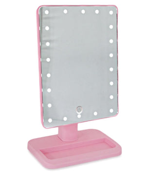Square Led Mirror - Pink