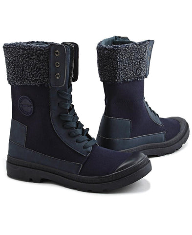 Canvas Boots - Navy
