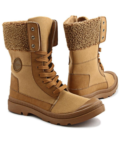 Canvas Boots - Tan