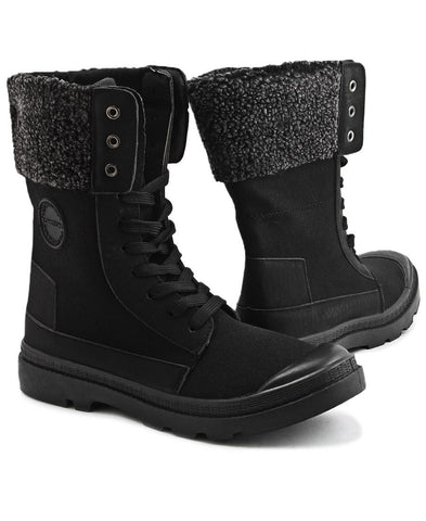 Canvas Boots - Black