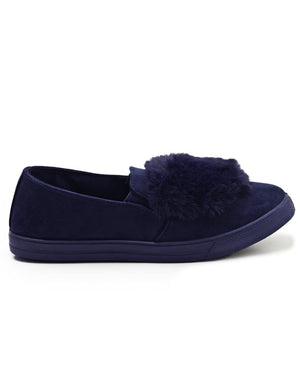 Fluff Slip On - Navy