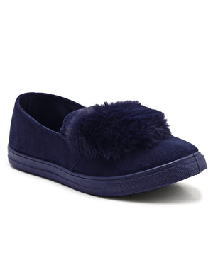 Fluff Slip On - Navy - planet54.com