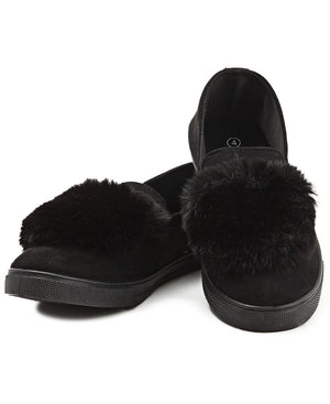 Fluff Slip On - Black