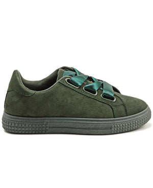 Ribbon Lace Sneakers - Green