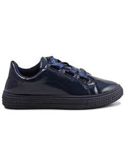 Ribbon Lace Sneakers - Navy