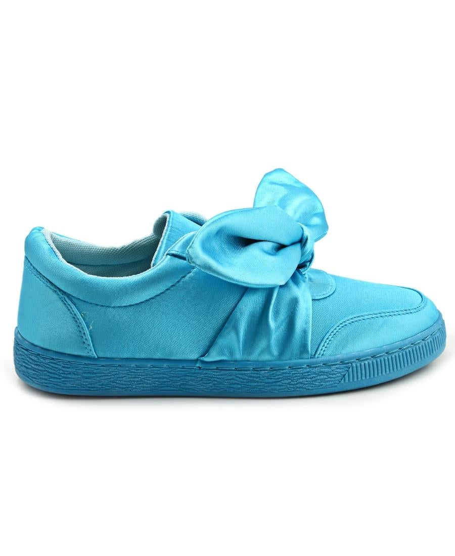 Ribbon Bow Sneakers - Blue