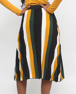 Pleated Skirt - Mustard