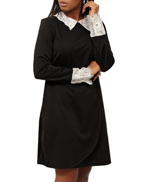 Lace Trimmed Tunic - Black