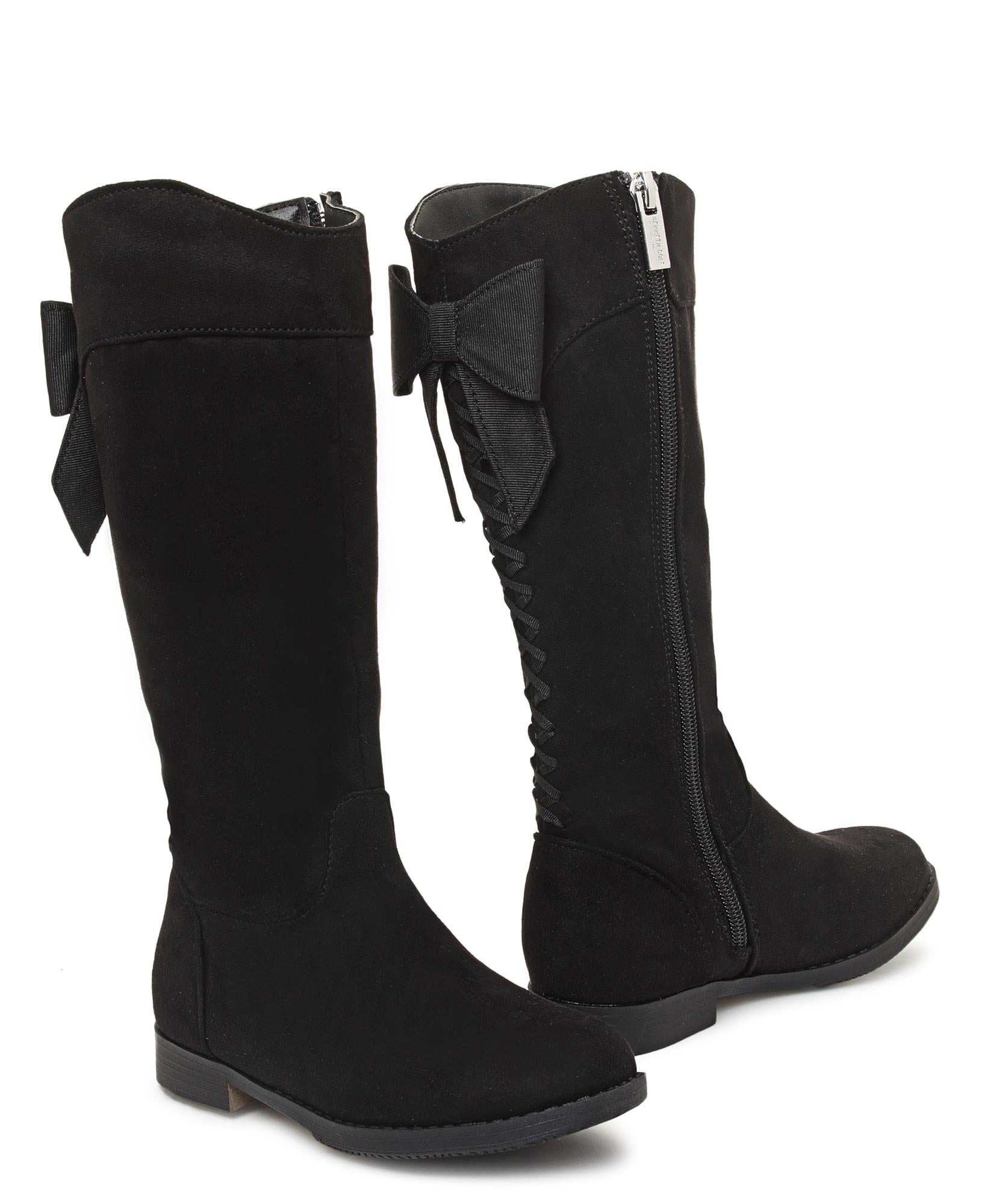 Girls Knee High Boots - Black