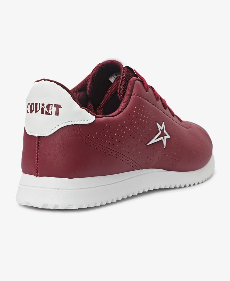 Ladies' Beverly Sneakers - Burgundy