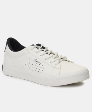 Ladies' Crystal Sneakers - White-Navy