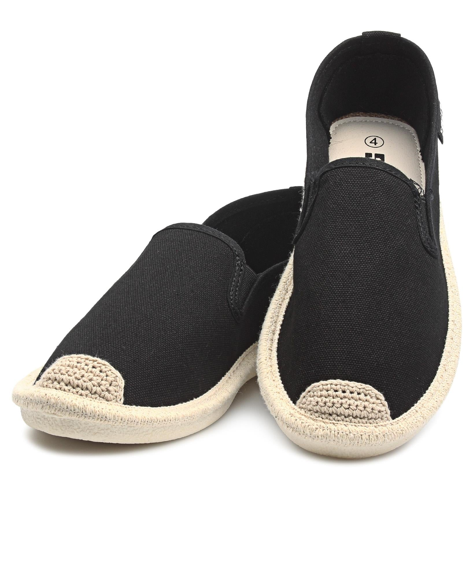 Ladies' Snowflake Espadrilles - Black