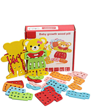 Kids Lacing Bear Set - Multi